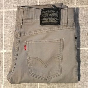 Levi's 32, 510 Super Skinny Jeans Light Grey